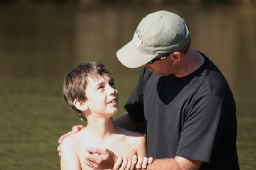 Baptism--Oct. 13, 2007 (8 yrs. old) @ Village Creek State Park creek (3)